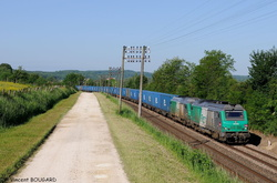 BB75119 and BB75017 near Vitrey-Vernoy station.