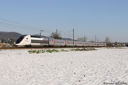 TGV POS 4407 at Beynost.