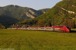 TGV Thalys 4301 and 4534 at Torcieu.
