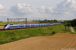 TGV Duplex 213 at Montanay.