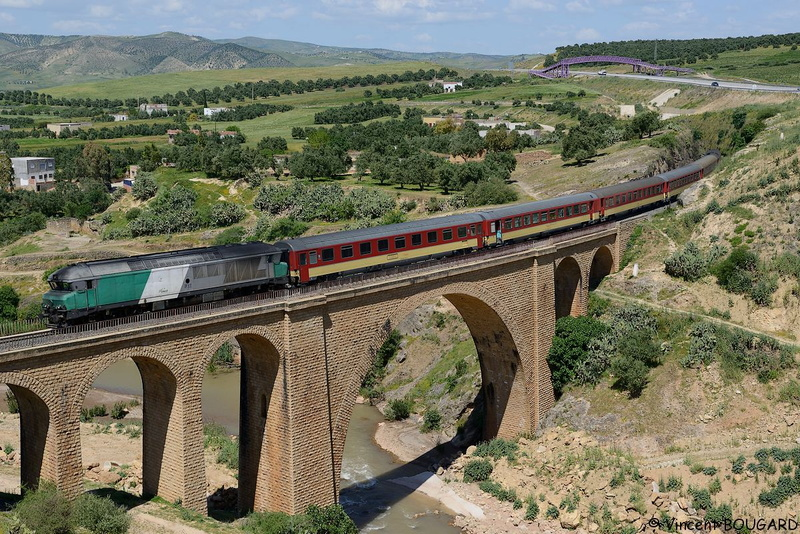 DF117 on Bouhlou's viaduct.