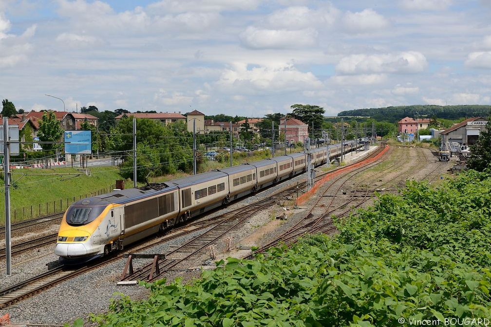 TGV Eurostar 3224 at Sathonay-Camp.